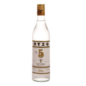 Tetteris Traditional Ouzo From Chios No5 700ml