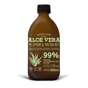 Aloe Juice With Mastic From Chios And Lemon Natuevo 500ml.