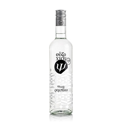"""Ouzo From Chios Distillery Psychis """"Rebiko"""" 40%vol 500ml."""
