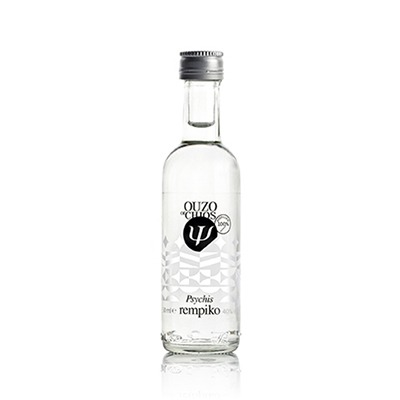"""Ouzo from Chios Distillery Psychis """"Rebiko"""" 40%vol 50ml."""